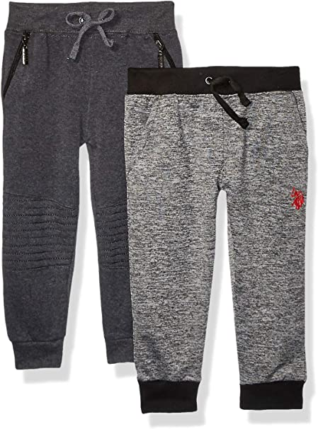 U.S Polo Assn Baby Boys 2 Pack Fleece Jogger Pant