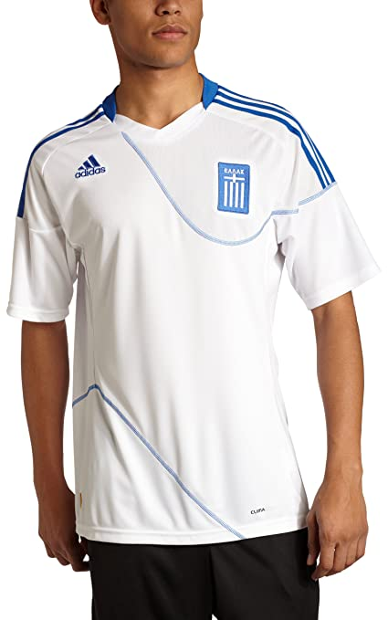 f14bf0811be Amazon.com   adidas Men s Greece Home Soccer Stadium Jersey   Sports ...