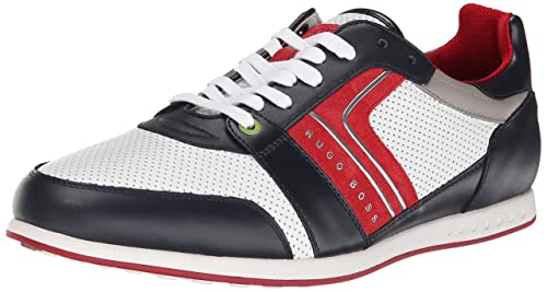 Hugo Boss Zapatillas de Moda para Hombre 12 d Mediano UK Azul: Amazon.es: Zapatos y complementos