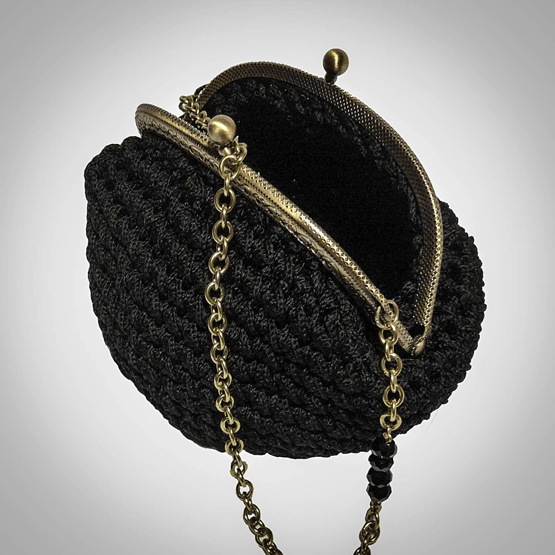 REBECCA - Monedero / Bolso de punto. Hecho a mano. Crochet ...