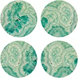 """CoasterStone NC05 """"Teal Agate"""" Absorbent Coasters (Set of 4), 4-1/4"""", Multicolor"""