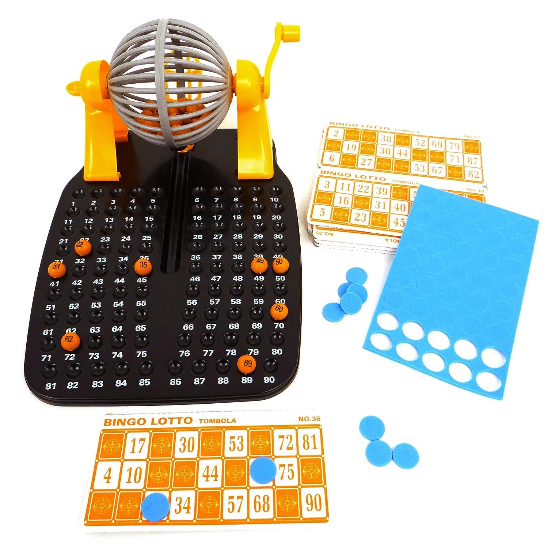 Bingo Spiel Metalltrommel Bingomühle Lotto Set Glücksspiel Tombola Reisespiel