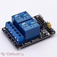 AZDelivery ⭐⭐⭐⭐⭐ 2-Relais Modul 5V mit Optokoppler Low-Level-Trigger für Arduino