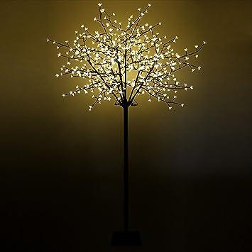 Led Weihnachtsbeleuchtung Baum.Multistore 2002 Xxl Lichterbaum Kirschblütenbaum 600 Led 250cm Warmweiß Beleuchteter Baum Weihnachtsbeleuchtung Lichterdeko Leuchtbaum
