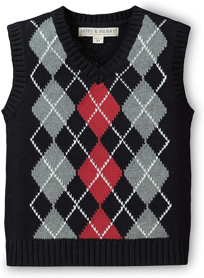 Kids 1950s Clothing & Costumes: Girls, Boys, Toddlers Hope & Henry Boys V-Neck Sweater Vest $25.95 AT vintagedancer.com