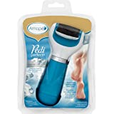 Amope Perfect Pedicure, Electronic Foot File for Soft Beautiful Feet, Blue, Coarse, 1 Count