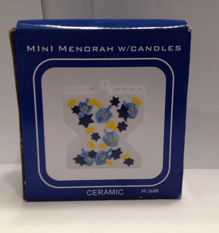 Mini Menorah with Candles Israel Giftware Designs