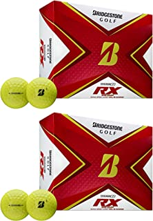 product image for Bridgestone Golf Tour B RX Reactive Urethane Distance Golf Balls, Yellow (2 Dozen)