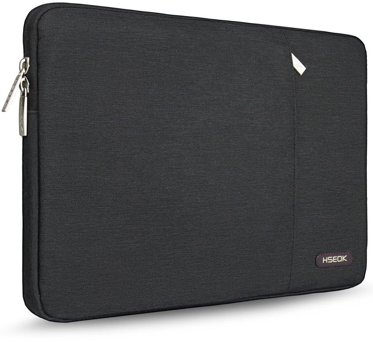 Compatibile da 15-15,6 Pollici Dell//Ausu//Acer//HP//Toshiba//Lenovo//Surface book Custodia Computer PC 15.6 Pollici Notebook Portatile Borsa Sleeve a 2 Scomparti Impermeabile Nero
