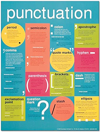 Amazon.com: Punctuation, All-In-One Language Arts Poster.: Home ...