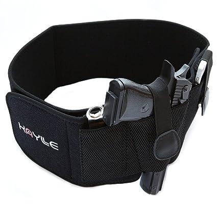 KAYLLE Belly Band Concealed Carry Holster - Neoprene Elastic Inside  Waistband Gun Holster for Women & Men - Fits Glock 17 19 43 30s 23 26 22 23  9mm