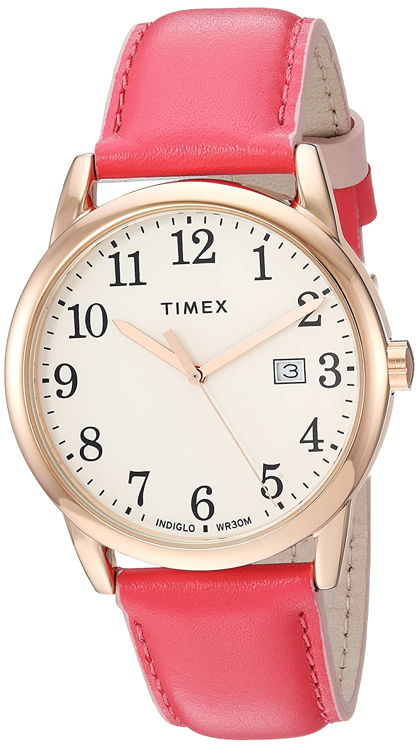 1404a0c7142b Amazon.com  Timex Women s TW2R62600 Easy Reader 38mm Blue Gold-Tone Leather  Strap Watch  Timex  Watches