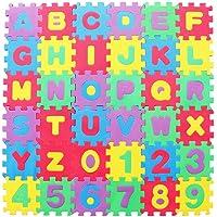 GARNECK Alfabet Nummers Foam Puzzel Speelkleed in Elkaar Grijpende Eva Vloertegels Voor Kinderen Peuters Baby's…