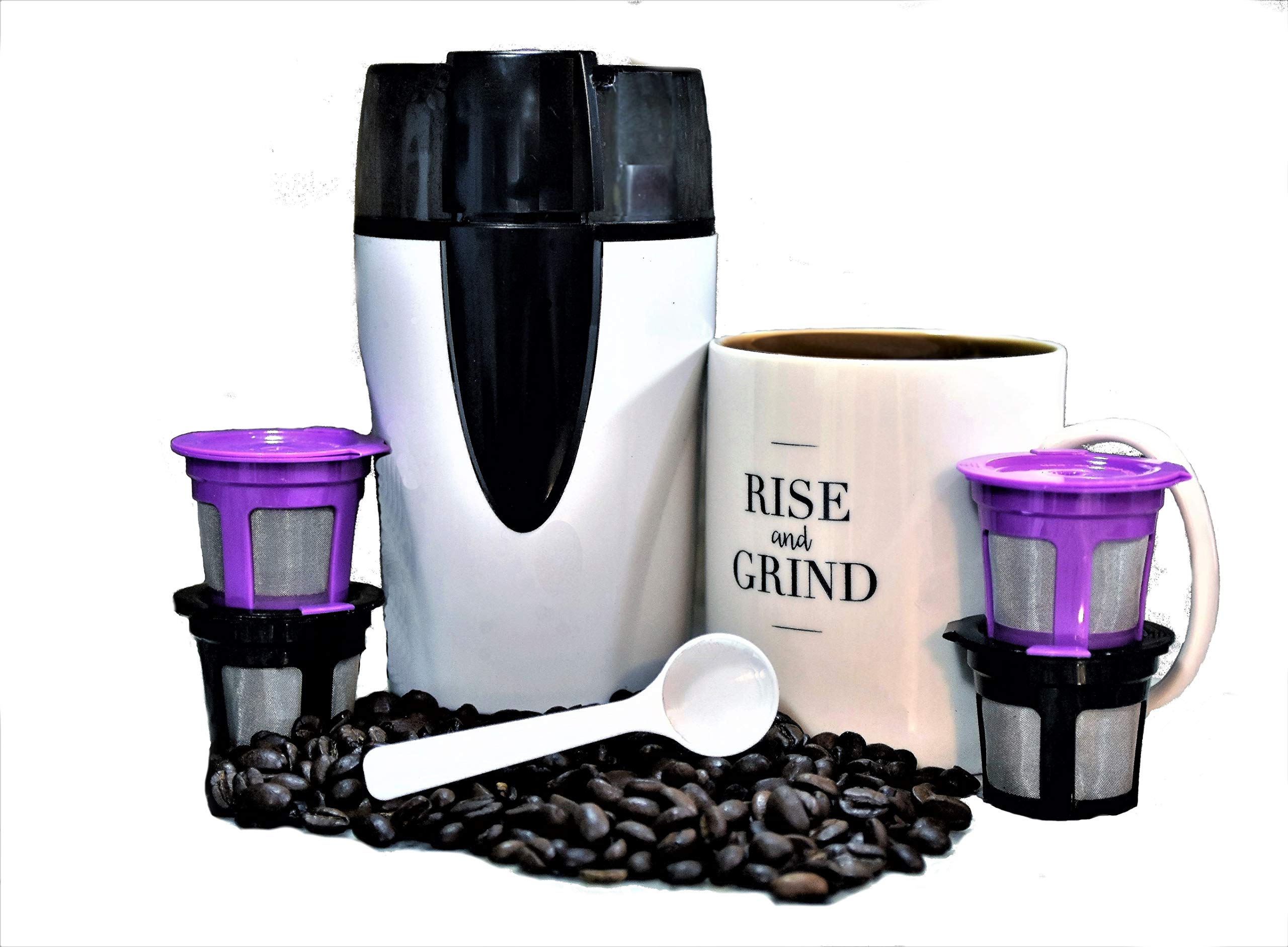 Coffee Brew Kit with Reusable/Refillable KCups and Mug | Money Saving Solution | Universal Compatibility with 1.0 & 2.0 Keurig Machines | Save the Earth | Drink Tastier Coffee by Coffee Domain