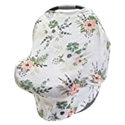 LulaBaby - 360° 4-in-1 Stretchy Baby Nursing Cover, Car Seat Canopy, and Shopping Cart Cover (WINTER FLORAL)