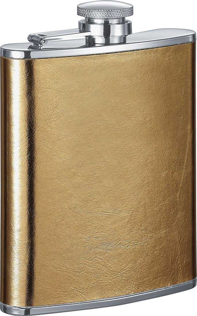 Satin Gold Visol Products VF1240NP 6-Ounce Visol Goldie Liquor Flask for Women