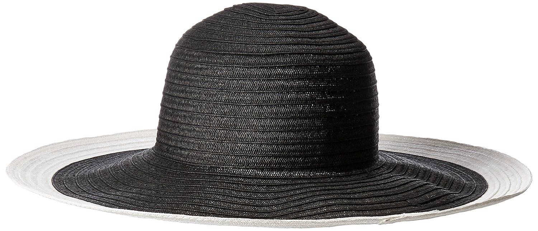 394b0141 San Diego Hat Company Women's Ultrabraid Colorblock Brim Floppy Hat, Black,  White, OS at Amazon Women's Clothing store: