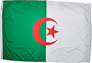 product image for Annin Flagmakers Model 190257 Algeria Flag Nylon SolarGuard NYL-Glo, 4x6 ft, 100% Made in USA to Official United Nations Design Specifications
