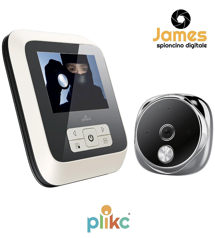 Judas électronique numérique ultra plat avec vision nocturne et possibilité de photo et vidéo–Plikc James
