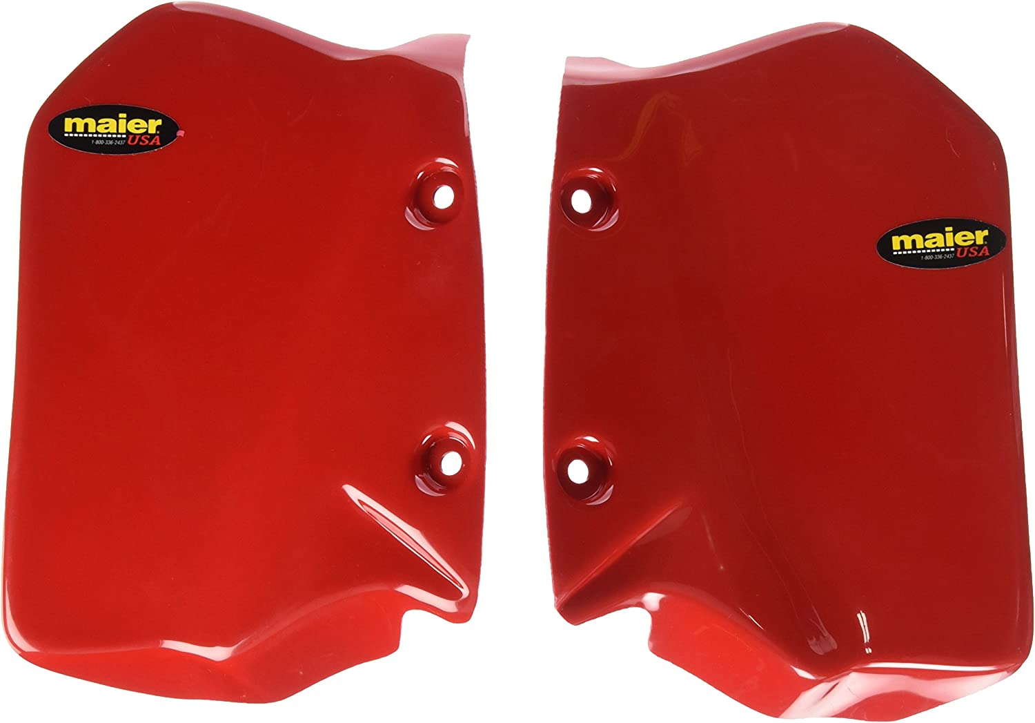 Maier 580022 Red Radiator Air Scoop for Honda ATC250R Pair