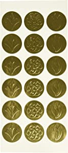 Geographics Self-Adhesive Embossed Seals, Gold, 54 per Pack (45204)