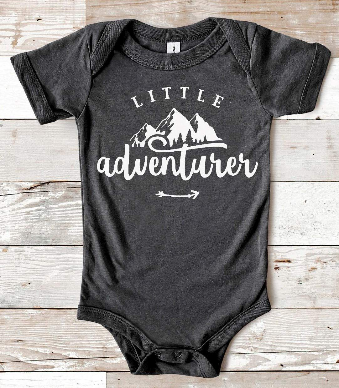 Baby Shower Present The Mountains Are Calling 3-6 Months Baby Bodysuit Little Adventurer