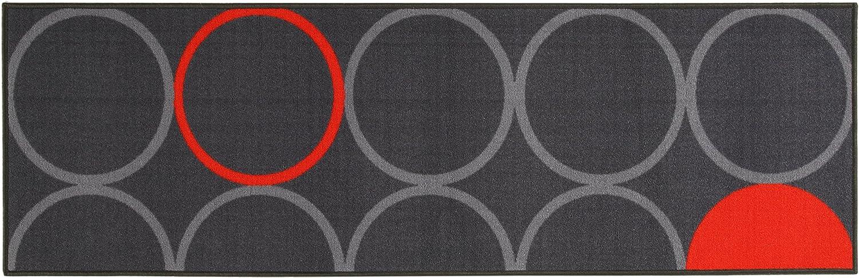 ABC Alfombra La Cucina Opty Gris/Naranja 57 x 140 cm