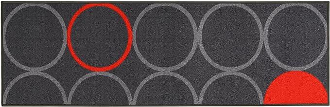 ABC Alfombra La Cucina Opty Gris/Naranja 57 x 200 cm: Amazon.es: Hogar