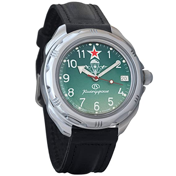 Vostok Komandirskie VDV 2415 211307 - Ruso Militar reloj mecánico: Amazon.es: Relojes