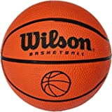 Wilson Basketball, Indoor and Outdoor, Rough Surfaces, Asphalt, Synthetic Floors, Size 1, For ages 2-4, NCAA MICRO BALL, Orange, B1717