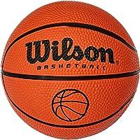 Wilson B1717 Ballon de Basketball, intérieur et extérieur, Surfaces Rugueuses, Asphalte, sols synthétiques, Taille 1, pour Les Enfants de 2 à 4 Ans, NCAA Micro Ball, Orange, B1717
