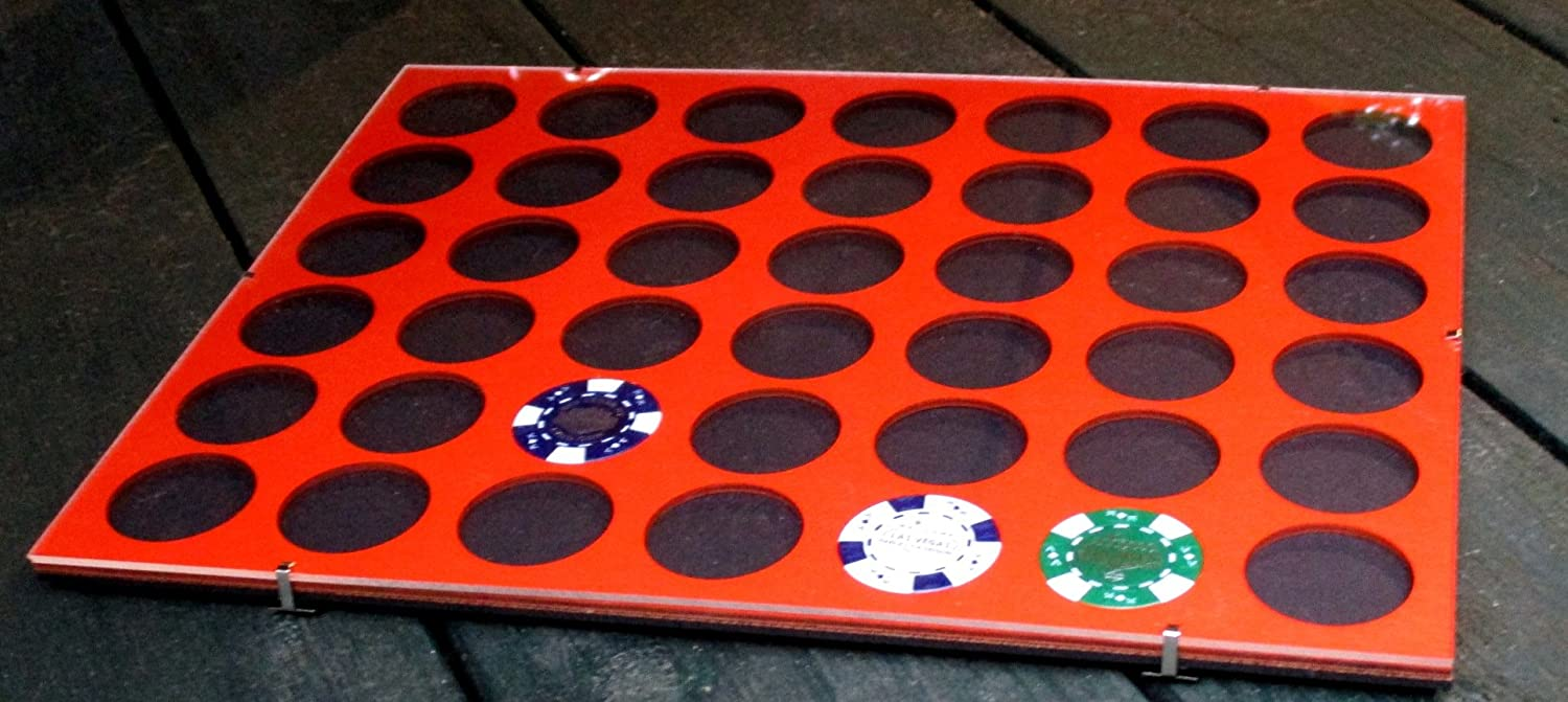 Poker Chip Clip Frame for 66 Casino or Harley-Davidson chips Acrylic-glass clip frame Borderless chip holder Father/'s Day Gift