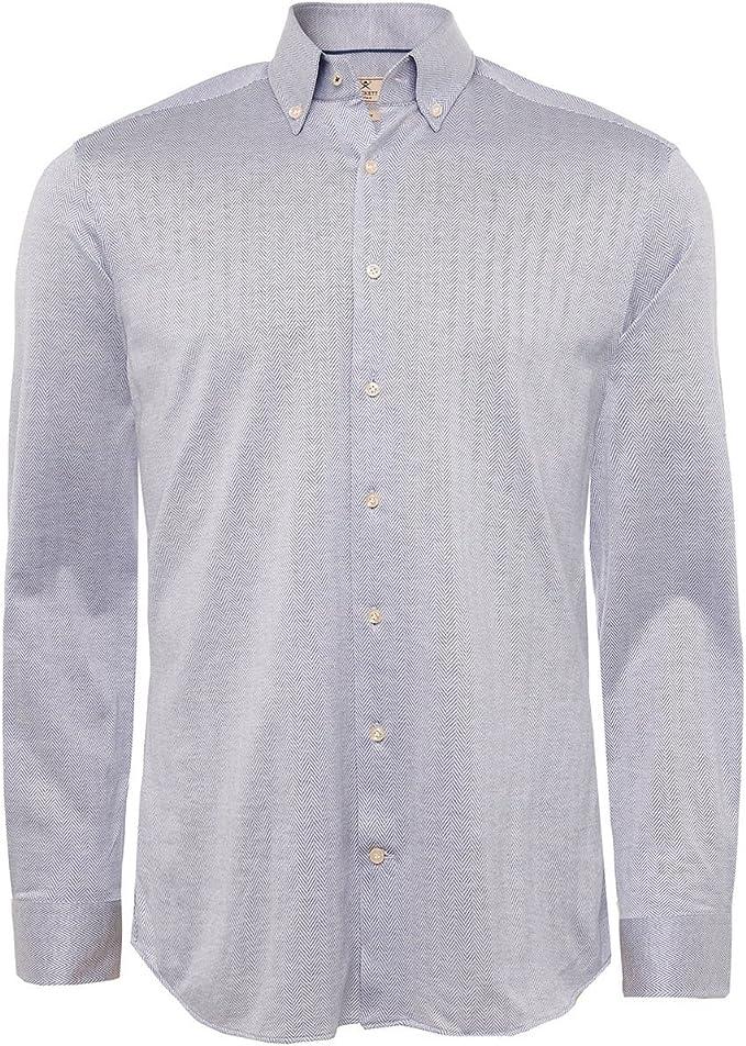 Hackett Hombres camisa Slim fit punto la raspa de arenque Cielo XL: Amazon.es: Ropa y accesorios