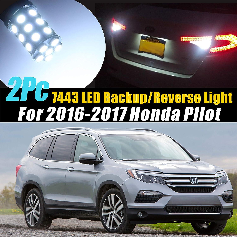 2017 Honda Pilot Colors >> Amazon Com 2pc 7443 27smd Super White 6000k Backup Reverse