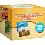 Noun Vocabulary Builder Flash Cards - 300 Educational Photos - Animals, Food, Instruments, Sports, Transportation +More - For