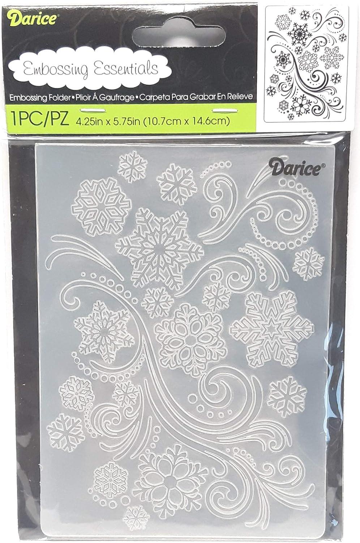 4.25 by 5.75-Inch Darice 1216-64 Embossing Folder Butterfly Swirls