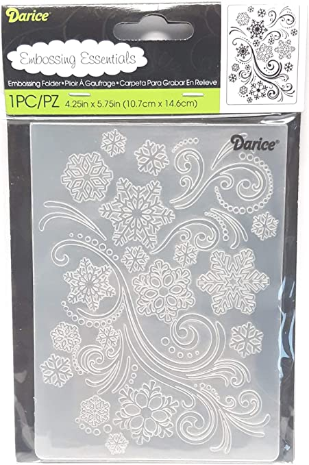 Darice 1218-97 Embossing Folder Background 5X7-Snowflake