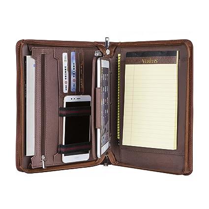 Portafolios de Piel Portafolio de Cuero A5 Conferencia de Cuero, 10.5 Estuche iPad Pro,