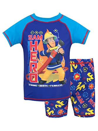 d4f02efa1 Fireman Sam Boys Sam Swim Set Ages 3 Months to 8 Years: Amazon.co.uk:  Clothing