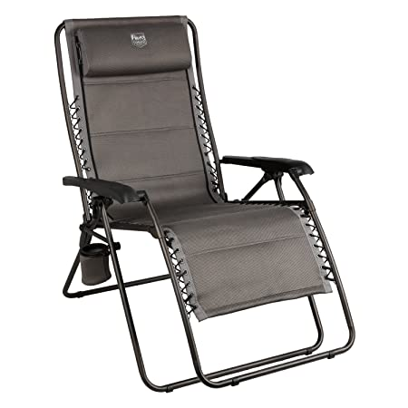 Timber Ridge Balsam Deluxe Zero Gravity Lounger Oversize Recliner, Grey
