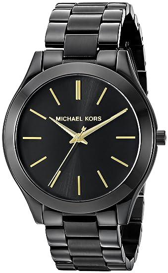 bdc4dcf85ae9 Michael Kors MK3221 Slim Runway Black Dial Black Ion-plated Unisex Watch  Michael  Kors  Amazon.ca  Watches