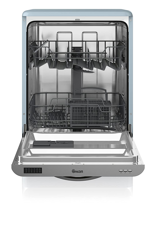 Swan SDW7040BLN Retro Dishwasher Blue