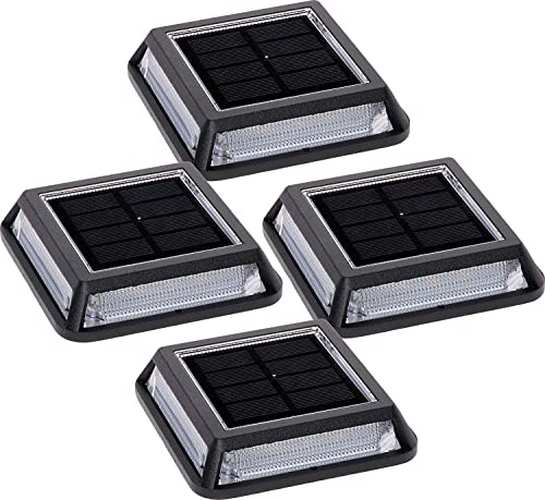 TEALP Solar 26 Lumen Path, Dock Deck Light with White SMD LEDs 4 Pack