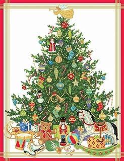 entertaining with caspari trees with toys christmas cards box of 16 - Caspari Christmas Cards