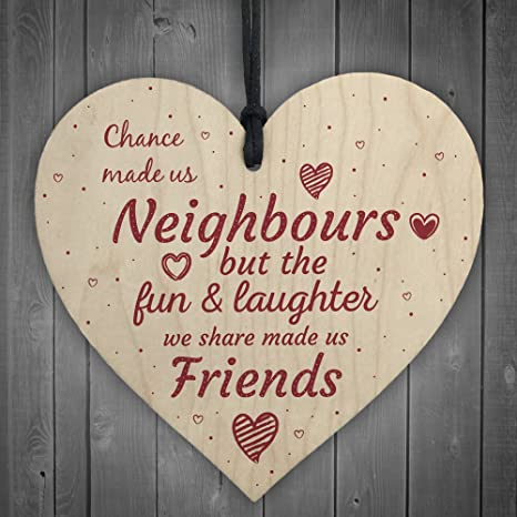 Heart Shape Handmade Wooden Hanging Plaque Sign Quote Gift for Family Friends