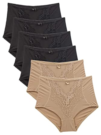 5131fcc5d7a Barbra s 6 Pack Women s High Waist Soft Control Underwear Brief at ...