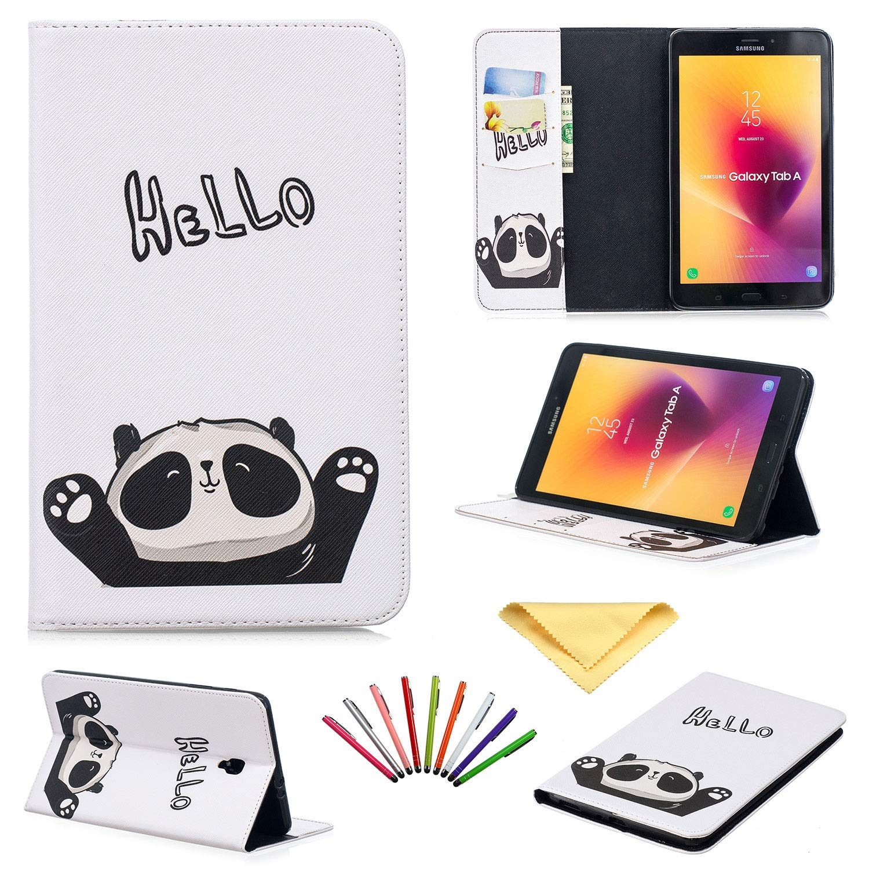 【高価値】 Uliking Galaxy Panda Tab A A 8.0インチタブレットケース 2017年版 二つ折りスタンド PUレザー TPU Samsung 耐衝撃 財布カバー ポケットカードスロット+鉛筆付き Samsung Galaxy Tab A 8.0 2017(SM-T380/T385)用 ホワイト 02 Cute Panda B07KTY839T, TULB-R shop:64f49e19 --- a0267596.xsph.ru
