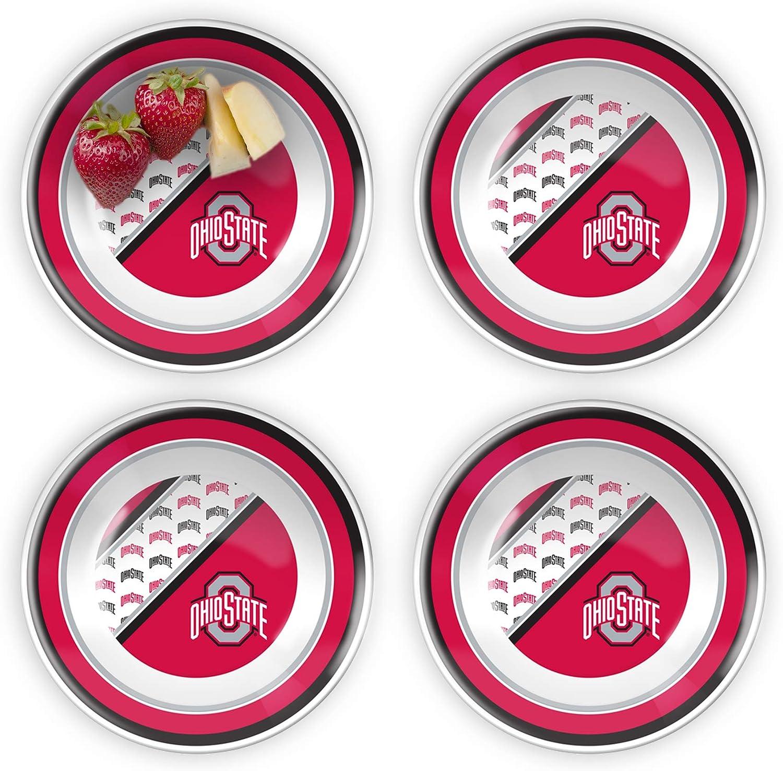 Duck House Ohio State University 7 Melamine Plastic Dinner Party Bowls Set of 4