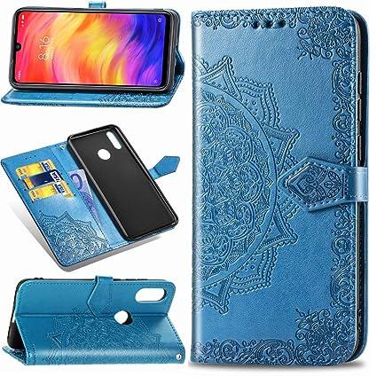 SUPWALL Funda para Xiaomi Redmi Note 7 Libro de Cuero Impresión, Redmi Note 7 Pro Carcasa PU Leather con TPU Silicona Case Interna Suave, Soporte ...