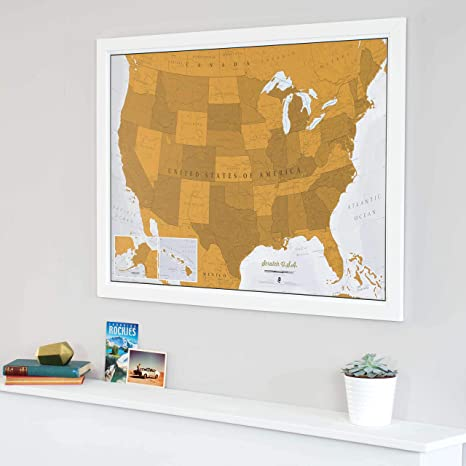 Amazon.com : Maps International Scratch Off United States ... on miss united states, ma united states, se united states, rainbow united states, pa united states, ne united states,